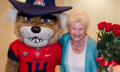 Shirley Fisher with Wilbur