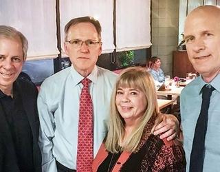 President Robbins, Jerry Short, Professor Kathy Short, and Dean Johnson